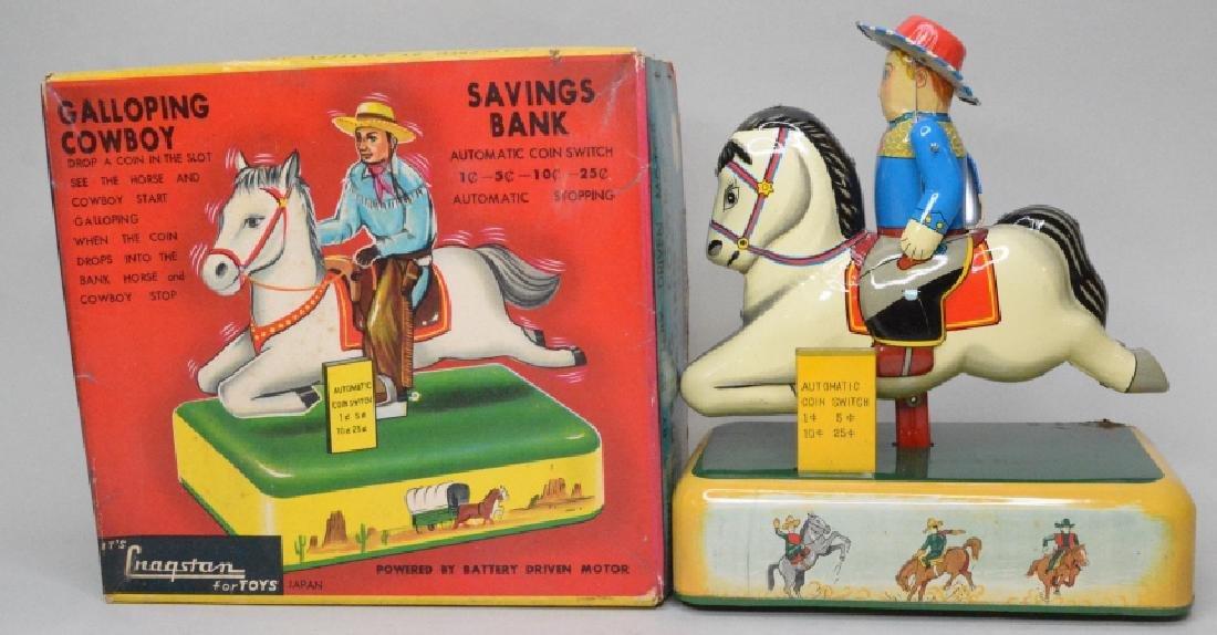 Cragstan Toys Tin Litho Galloping Cowboy
