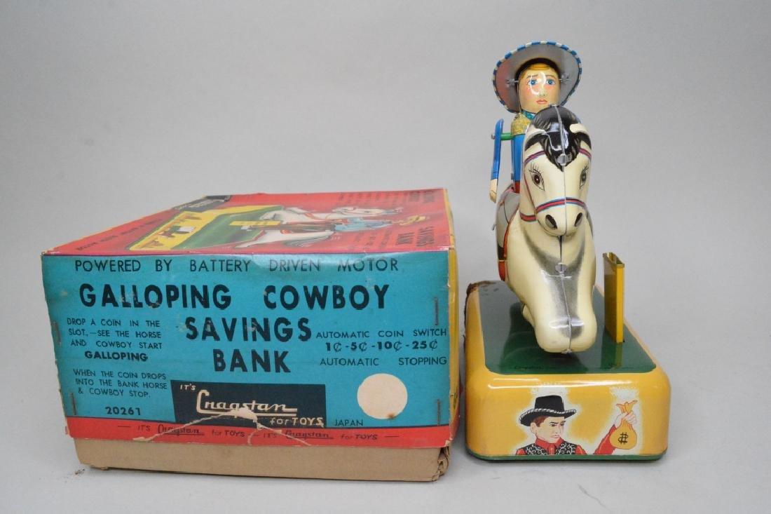 Cragstan Toys Tin Litho Galloping Cowboy - 2