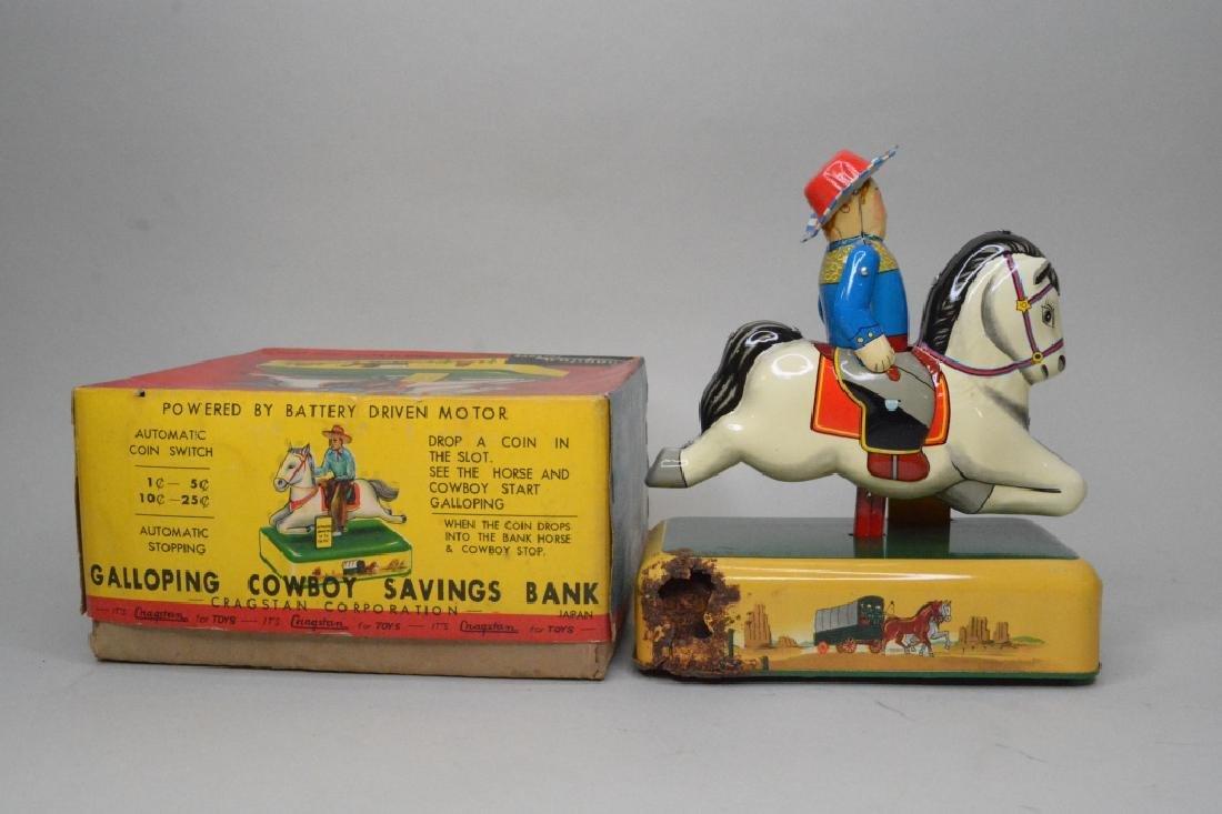 Cragstan Toys Tin Litho Galloping Cowboy - 3