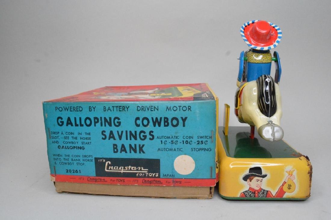 Cragstan Toys Tin Litho Galloping Cowboy - 4