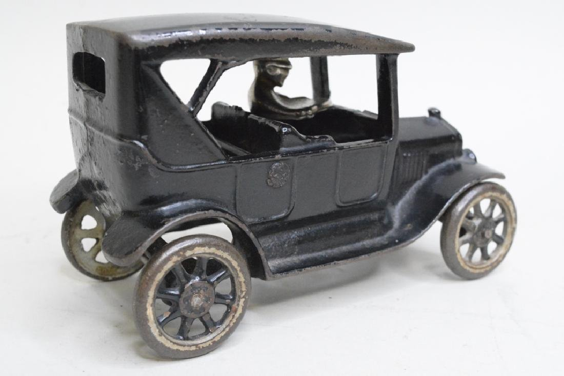 Arcade Cast Iron Model T Car With Driver - 3