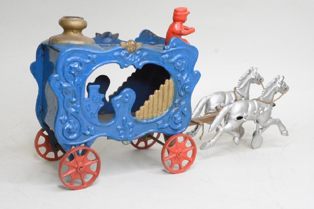 Cast Iron Horse Drawn Wagon - 3