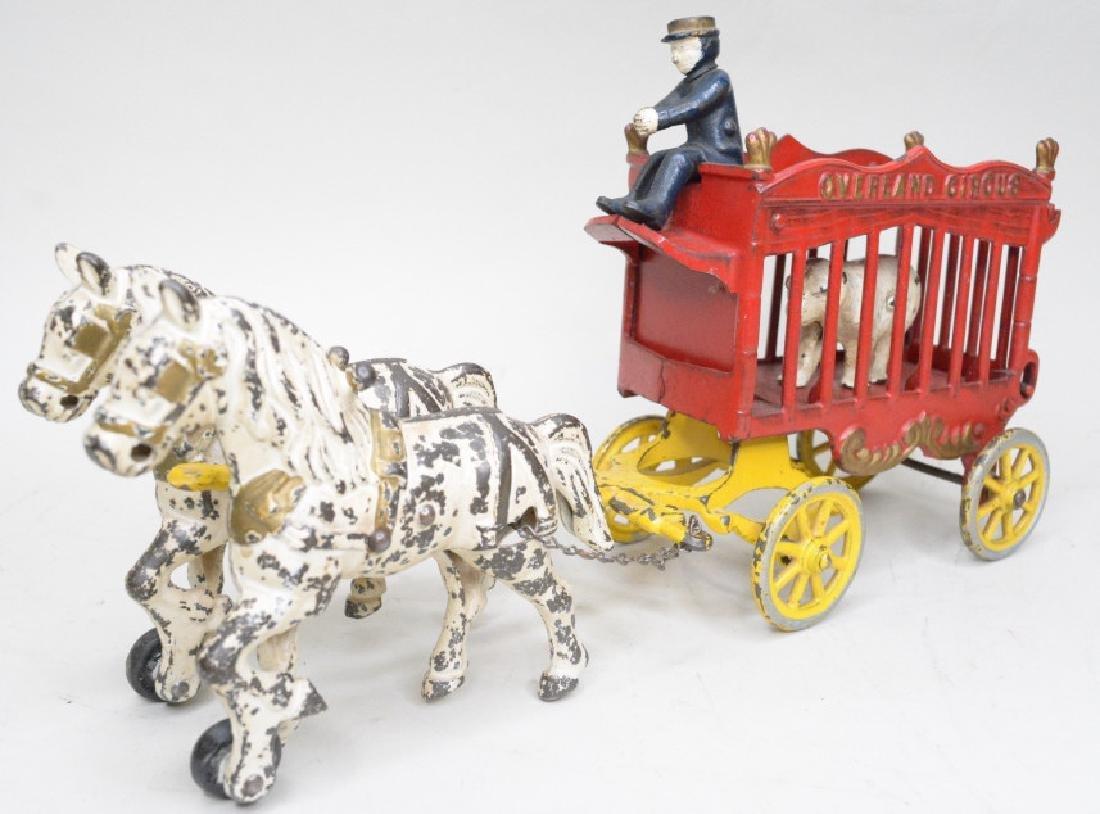Kenton Cast Iron Overland Circus Horse Drawn Wagon