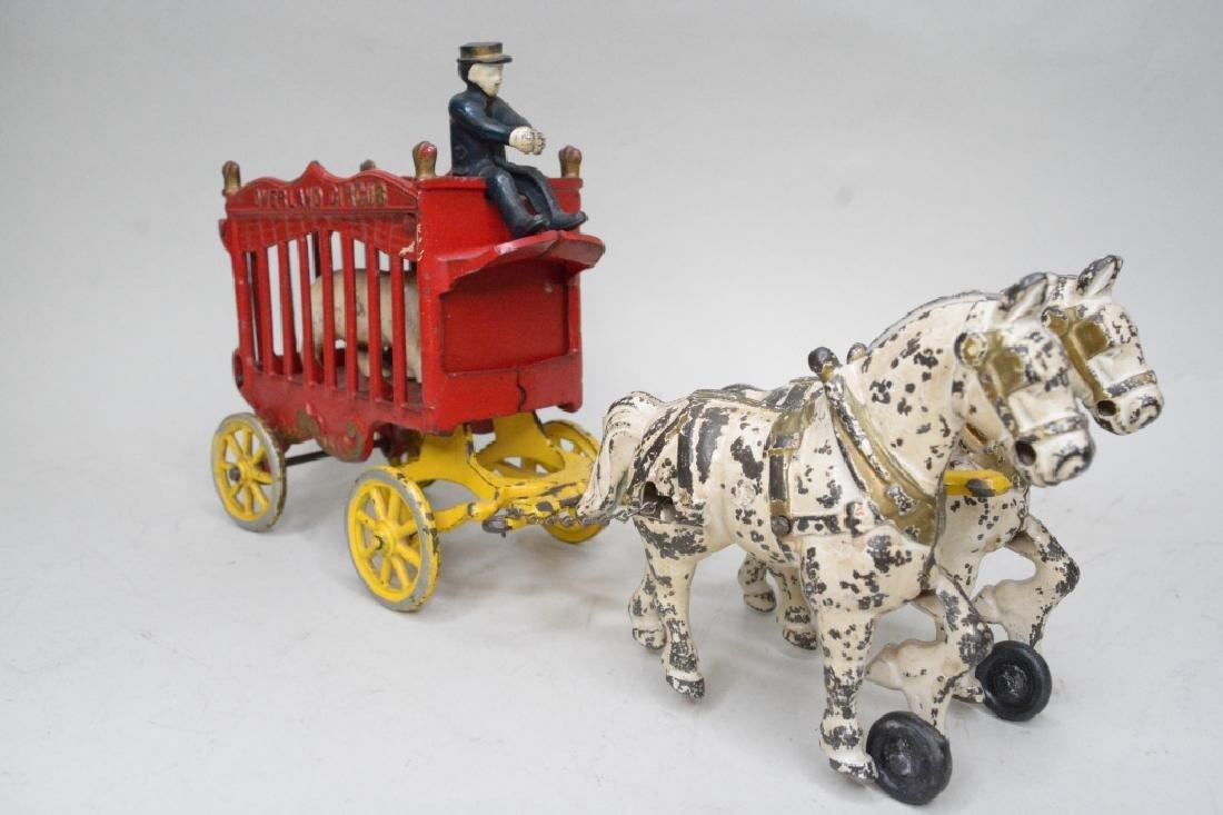 Kenton Cast Iron Overland Circus Horse Drawn Wagon - 2
