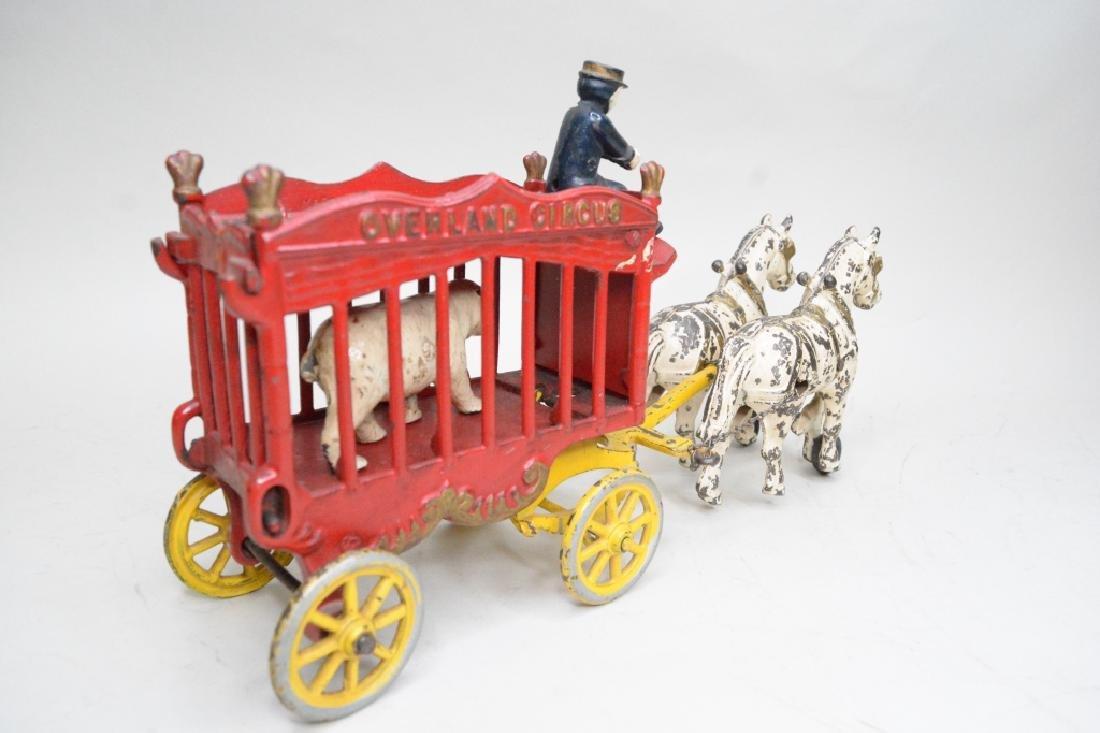 Kenton Cast Iron Overland Circus Horse Drawn Wagon - 3