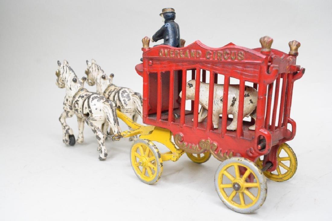 Kenton Cast Iron Overland Circus Horse Drawn Wagon - 4