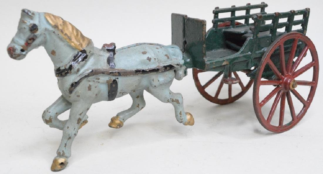 Cast Iron Horse Drawn Wagon