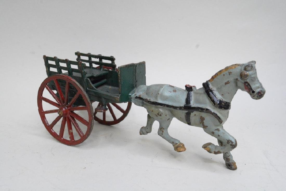 Cast Iron Horse Drawn Wagon - 2