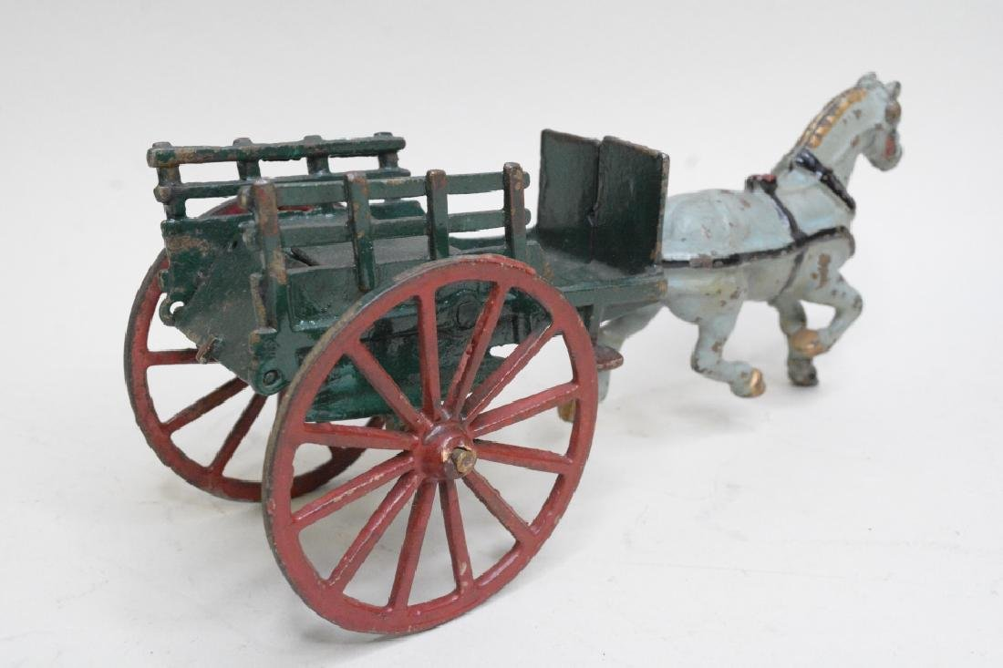 Cast Iron Horse Drawn Wagon - 3