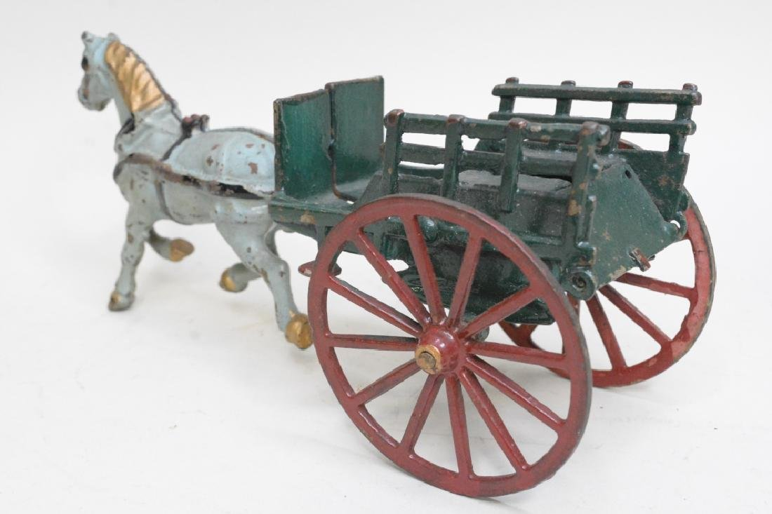 Cast Iron Horse Drawn Wagon - 4