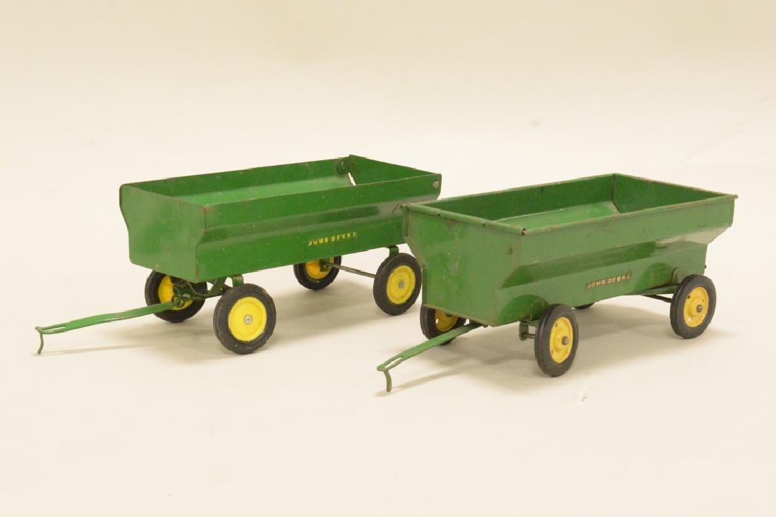 Two John Deere Wagons