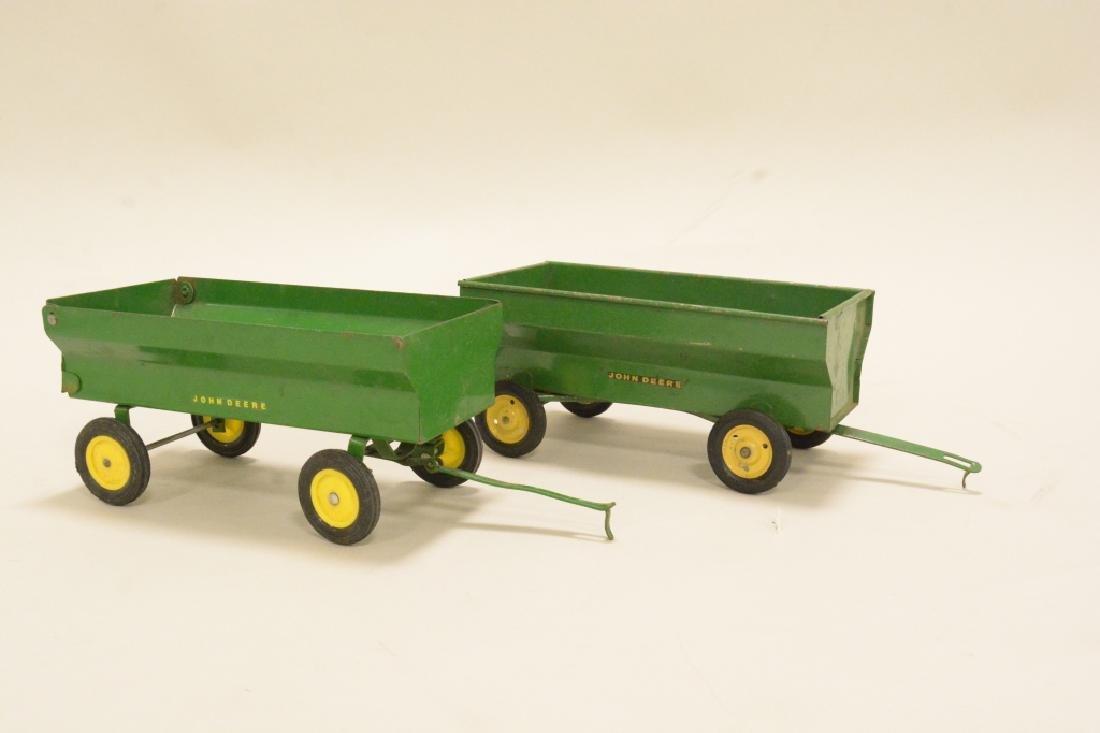 Two John Deere Wagons - 2