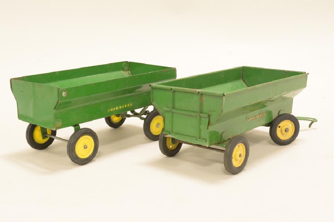 Two John Deere Wagons - 3