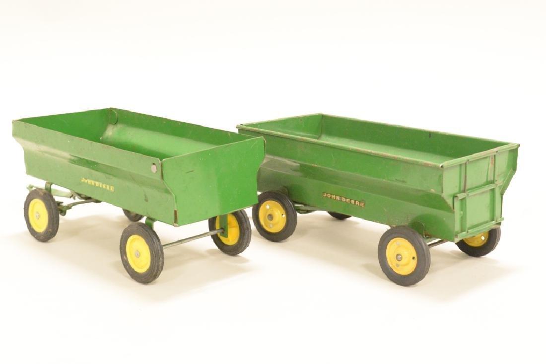 Two John Deere Wagons - 4