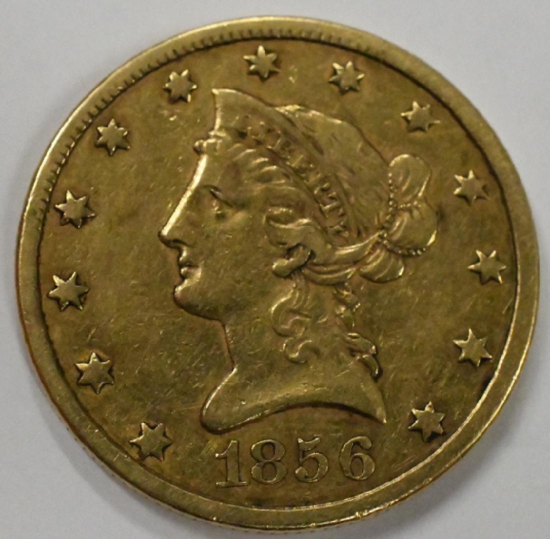 1856 $10 Liberty Head Eagle Gold Coin