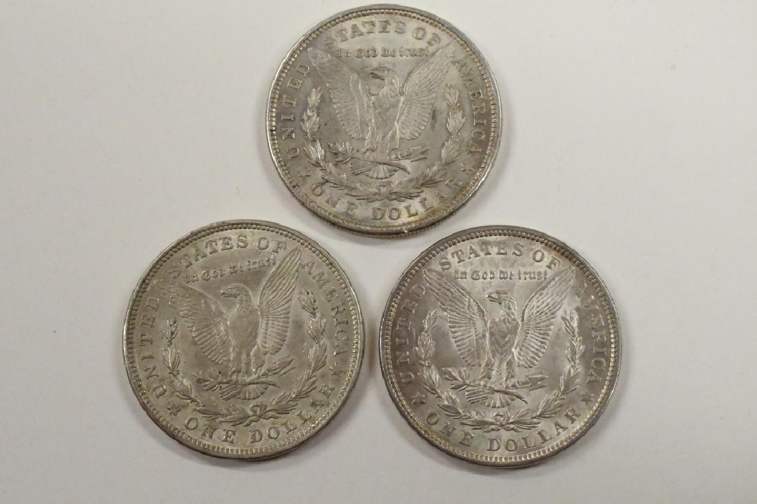 Lot Of 3 1921-P Morgan Silver Dollars - 2