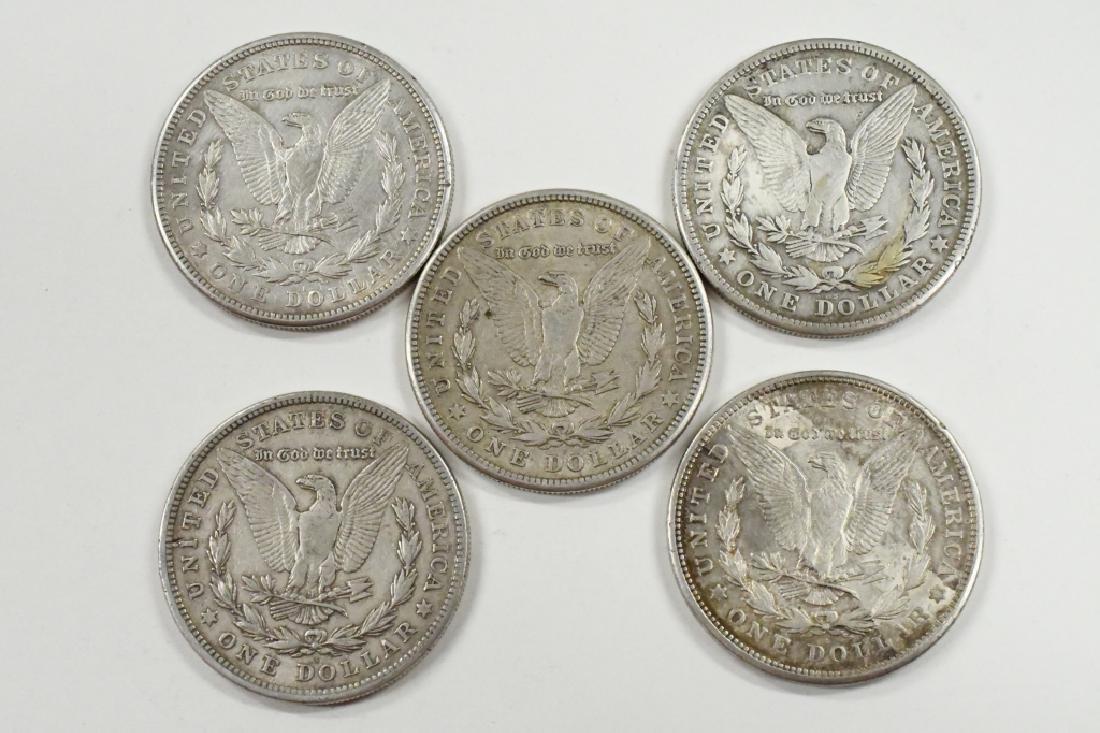 Lot Of 5 1921-S Morgan Silver Dollars - 2