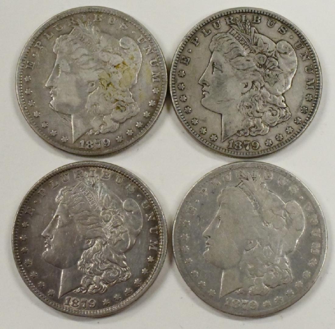 Lot Of 4 1879 Morgan Silver Dollars