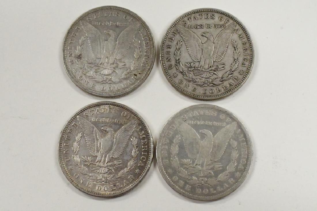Lot Of 4 1879 Morgan Silver Dollars - 2