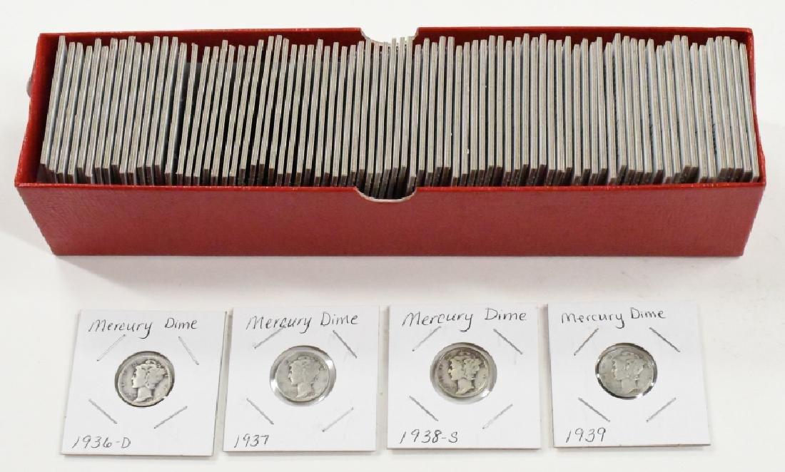 (85) 1936-39 90% Silver Mercury Dimes
