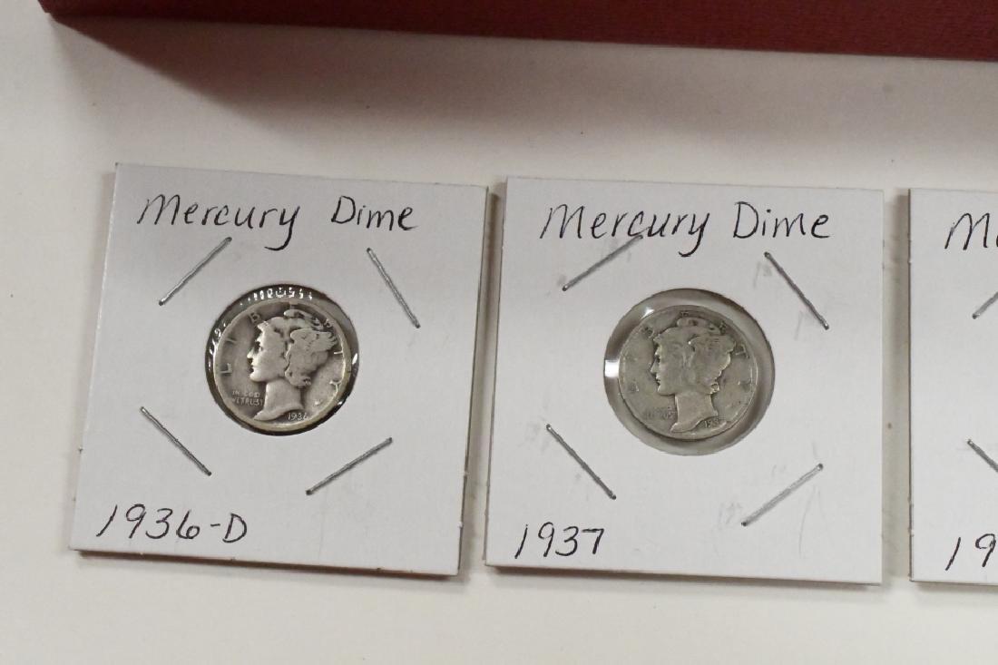 (85) 1936-39 90% Silver Mercury Dimes - 2