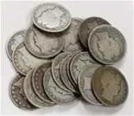 $10 Face Of 90% Silver Barber Half Dollars