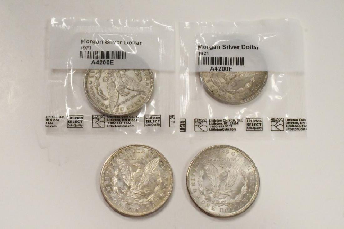 Lot Of Four 1921 Morgan Silver Dollars - 2