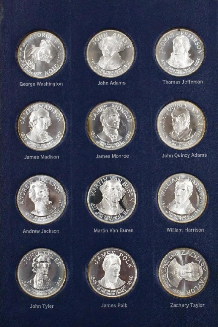 Franklin Mint Sterling Presidential Medal Set - 2