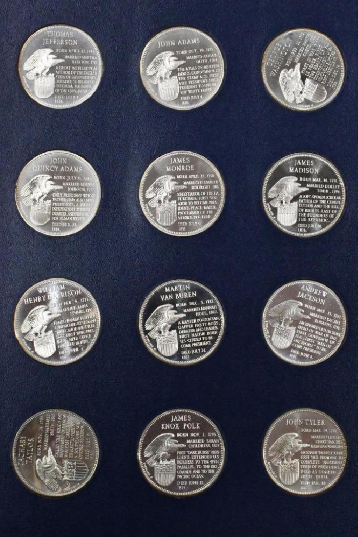 Franklin Mint Sterling Presidential Medal Set - 3