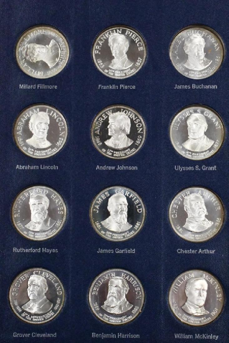 Franklin Mint Sterling Presidential Medal Set - 4