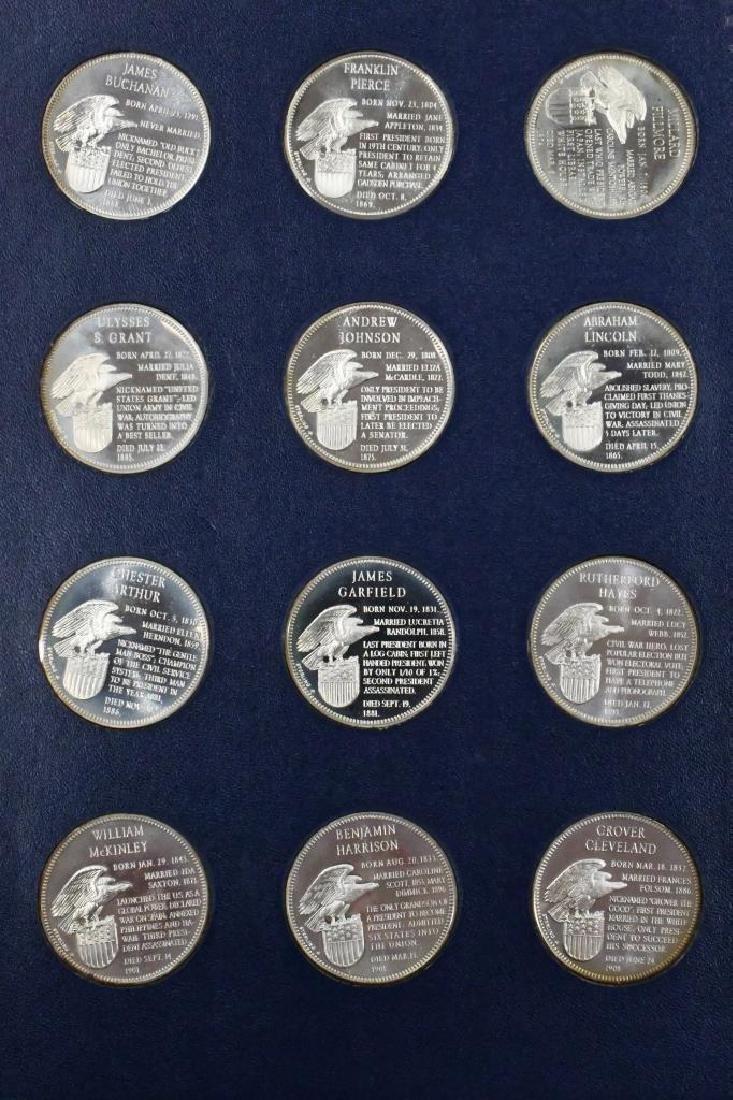 Franklin Mint Sterling Presidential Medal Set - 5