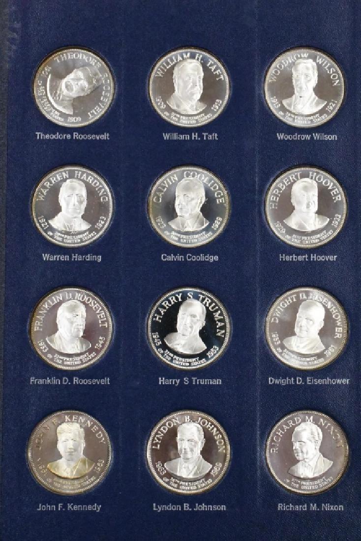 Franklin Mint Sterling Presidential Medal Set - 6
