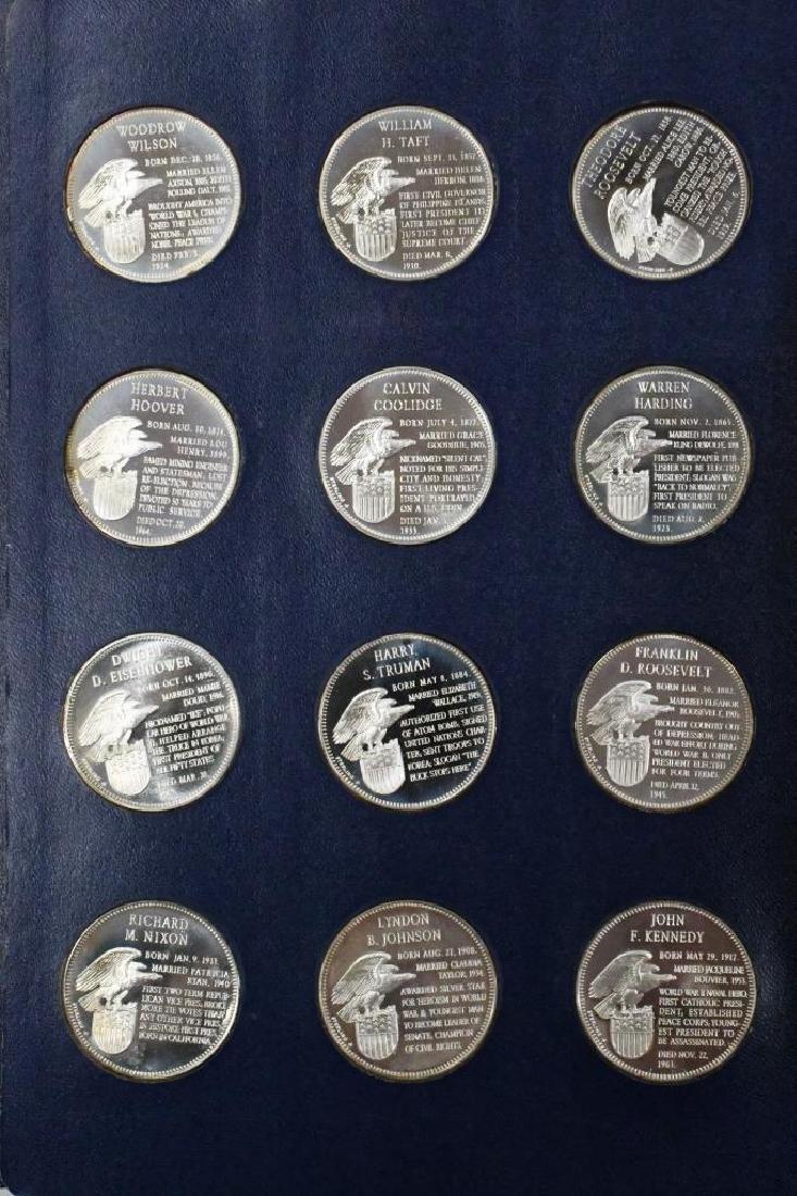 Franklin Mint Sterling Presidential Medal Set - 7