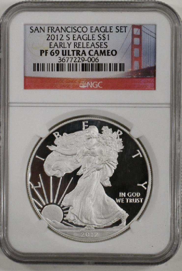 2012-S American Silver Eagle NGC PF 69 Ultra Cameo