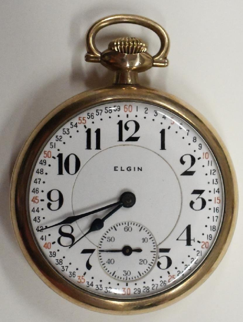 Elgin 17 Jewel Father Time Pocket Watch