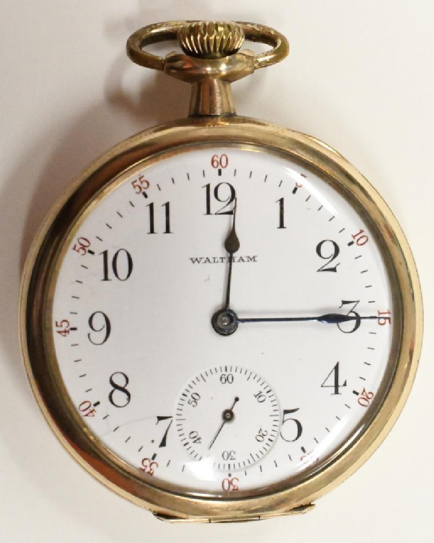 Waltham 15 Jewel Open Face Pocket Watch