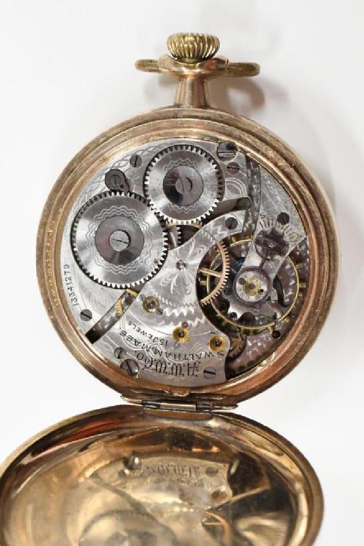 Waltham 15 Jewel Open Face Pocket Watch - 3