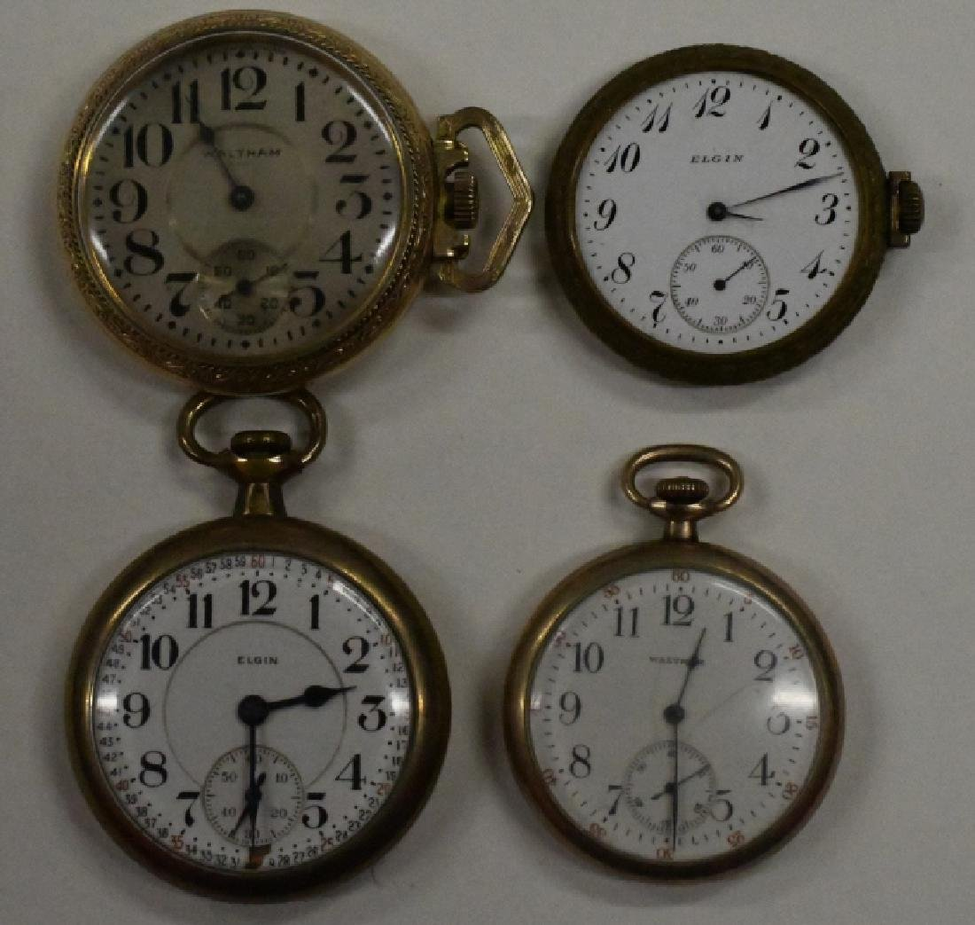 Four Vintage Pocket Watches For Parts Or Repair