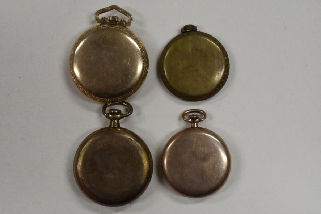 Four Vintage Pocket Watches For Parts Or Repair - 4
