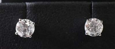 14kt 1.06ctw Diamond Stud Earrings