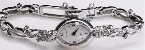 14k Ladies Hamilton Diamond Wristwatch