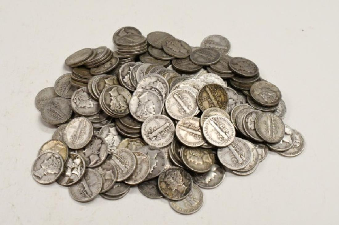 $20 Face Of 90% Silver Mercury Dimes