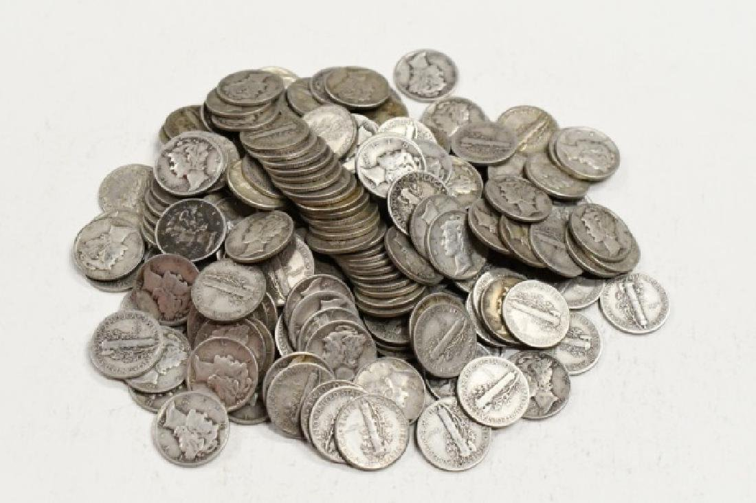 $20 Face Of 90% Silver Mercury Dimes