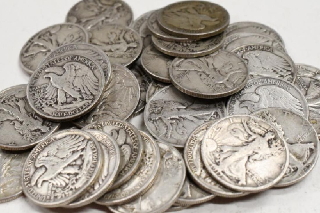 $20 Face Of 90% Silver Walking Half Dollars - 2