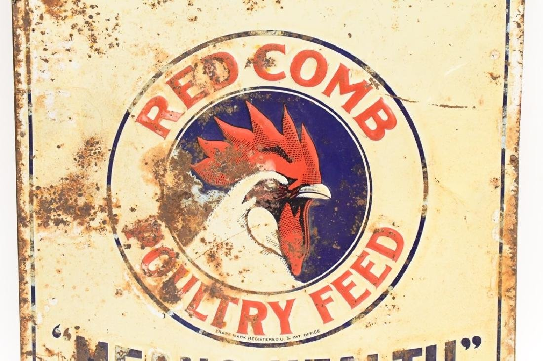 SST Embossed Red Crown Poultry Feed Adv Sign - 3