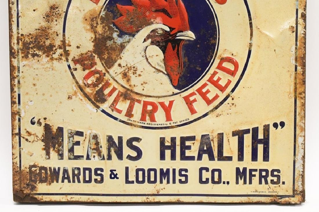 SST Embossed Red Crown Poultry Feed Adv Sign - 4