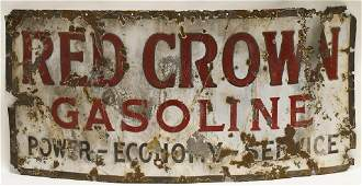 SSP Red Crown Gasoline Advertising Sign