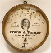 Frank J Panzer Funeral Director Adv Thermometer