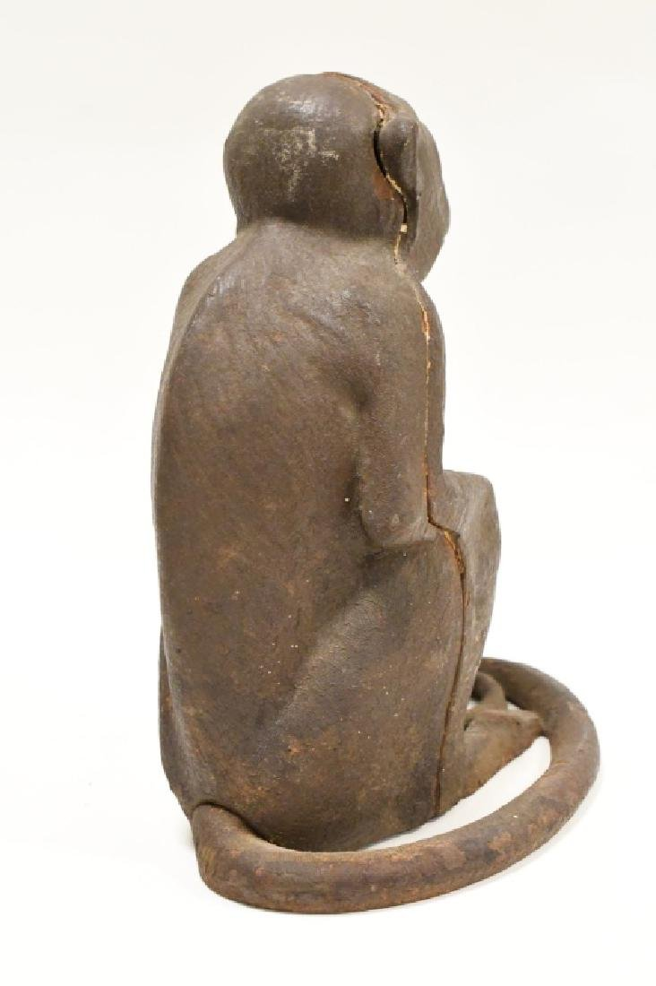 Cast Iron Monkey Door Stop - 4