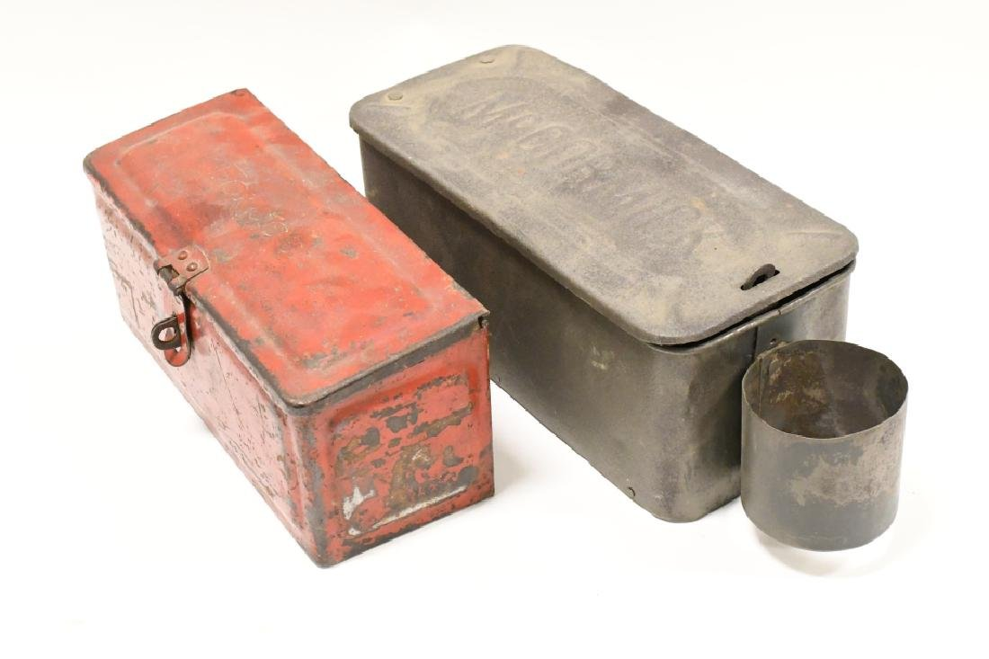 Lot Of Vintage Tractor Tool Boxes & Tools - 5